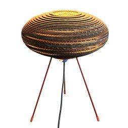 "UFO Table Lamp Brown 12"" Cardboard"
