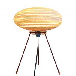 "UFO Table Lamp White 12"""