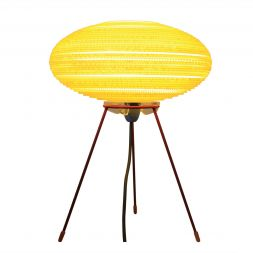 "UFO Table Lamp Yellow 12"""