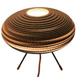 "Baby UFO Table Lamp Brown 12"" Cardboard"