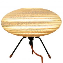 """Baby UFO Table Lamp White 12"""""""