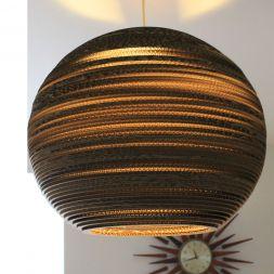 "Lampshade Sphere Pendant 20"" Cardboard"