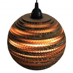 "Lampshade Sphere Pendant 12"" Cardboard"